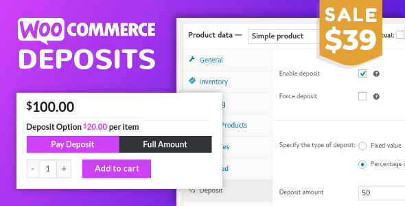 WooCommerce Deposits 3.2.11 – Partial Payments Plugin